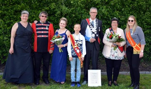 De winnaars van het Gemeentelijk koningschieten 2019