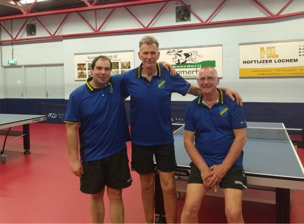 Team 9 vlnr: Jan Willem Eilers, Henk Lubberdink en Cor ten Bokkel.  © Persgroep