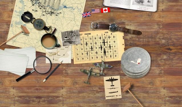 'Luchtoorlog 1940 - 1945' geeft een beeld van wat er zich tijdens de Tweede Wereldoorlog in het luchtruim boven Brabant afspeelde. FOTO: BHIC