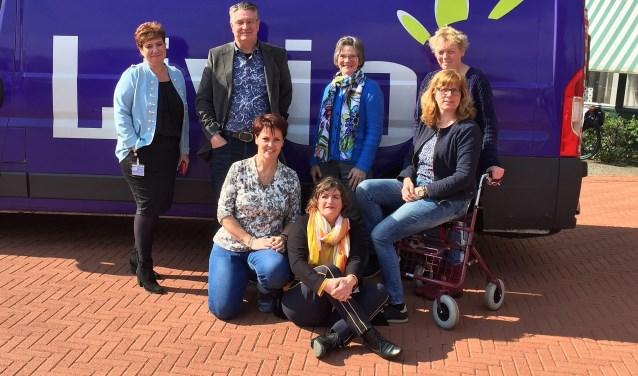 De werkgroep ECE met vlnr staand Karin Janssen, Gerrit van Veen, Clara Baks en Anneke Bollen en zittend Ellis van Doorn, Frieda van Enk en Liesbeth Klein Hesselink.