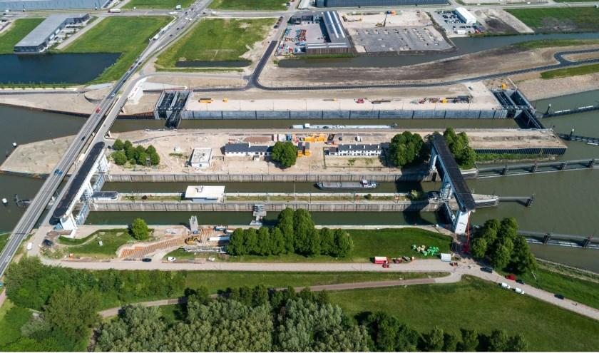 Dankzij een drone is er een mooi overzicht van het complex. Foto: RWS