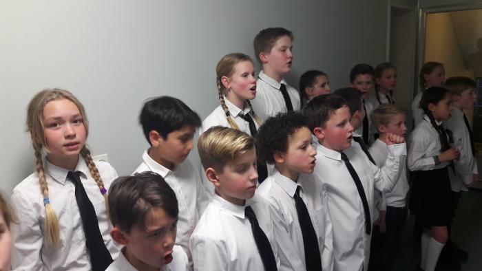 Oefenen voor het concert.  Arie Verhoog © Persgroep
