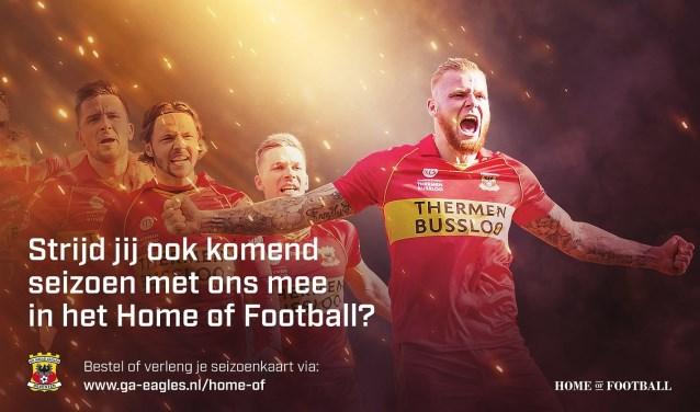 Supporters kunnen een seizoenkaart bestellen via de bestelmodule op www.ga-eagles.nl/home-of. Inmiddels verlengden of bestelden al duizenden fans hun seizoenkaart voor voetbaljaargang 2019/2020.