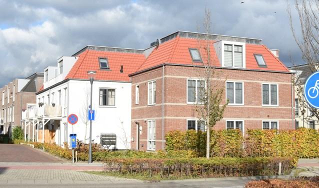 Het appartementen gebouw aan de Lakkerij in Aalst-Waalre.