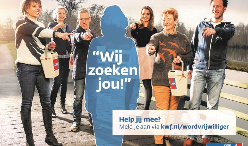 Als coördinator bijdragen aan het KWF-collecteteam van Veldhoven? FOTO: KWF