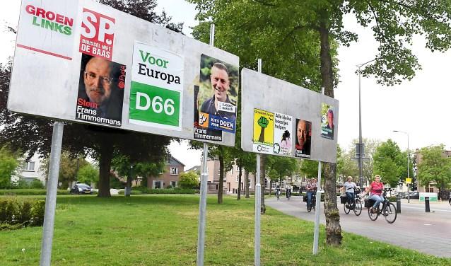 Europees verkiezingsbord. (foto: Roel Kleinpenning)