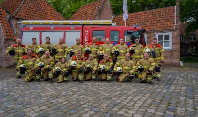 De vrijwilligers van Brandweerpost Heusden oefenen op maandagavond in de kazerne aan de Garnizoenstraat in Heusden. Foto: Jelle Swets