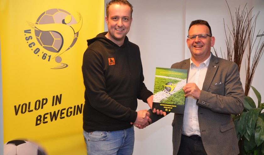 Martijn Westerink (BPM en Christiaan Mulder (VSCO'61). (Foto: Dik Leusink)