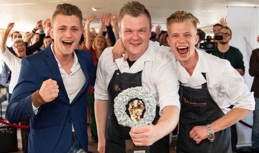 Team van 't Amsterdammertje: Dennis Steenbergen, Marco van der Wijngaard, Floris Wieten. Foto: Corina van Manen, Foodlovestories