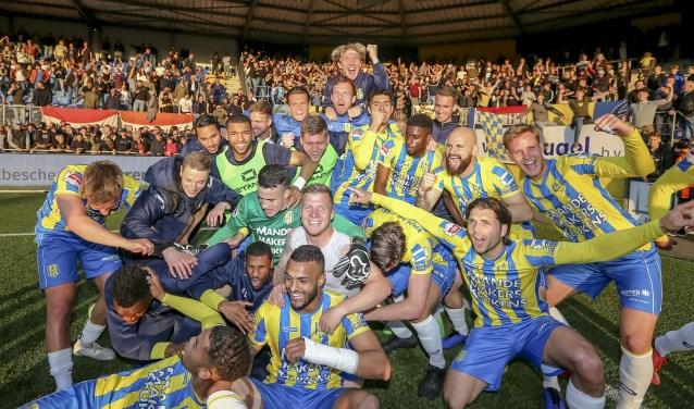 RKC heeft dinsdagavond voor een verrassing gezorgd door in eigen huis met 3-0 te winnen van NEC uit Nijmegen. Hiermee plaatst de ploeg zich voor de halve finale van de play-offs. Foto: ProShots