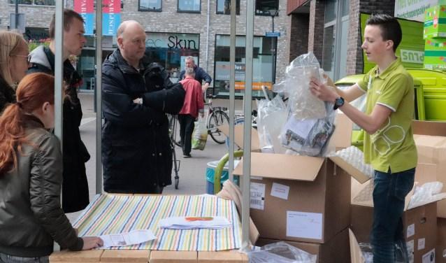De clubleden haalden hun eigen cadeaus op bij Plus Giel Smits met de grote clubactie