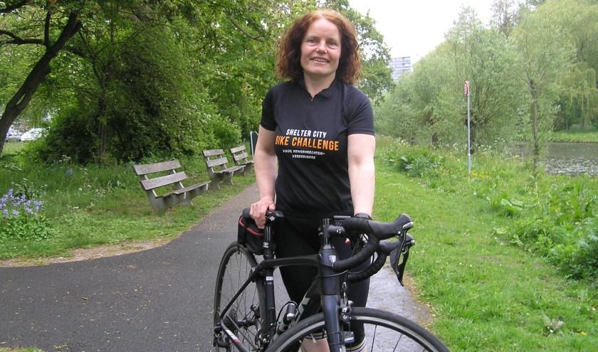 Jolanda Schuiling werkt op Humanitas en reed vorig jaar voor de eerste keer mee.