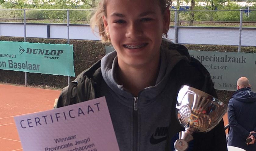 Féline Hagenaars: Brabants tenniskampioene!