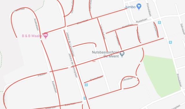 Het grootste gedeelte van het gebied voor buurtpreventie appgroep Voldijn Zuid