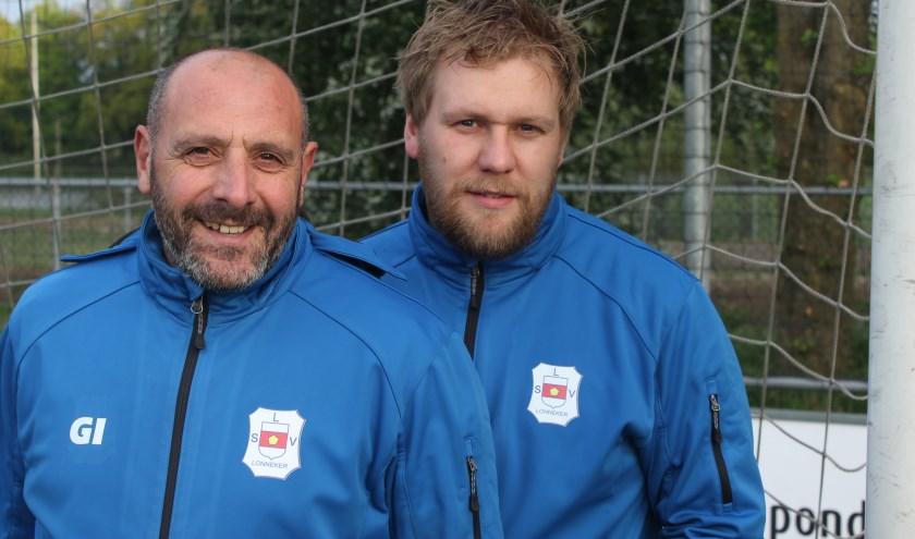 Giovanni Imbrogiano en Remco van der Weide zijn dit seizoen de trainers van LSV.
