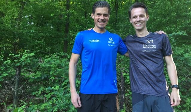 de deelnemers aan de halve marathon: links Evert Dirksen, rechts Remy Ravenhorst.