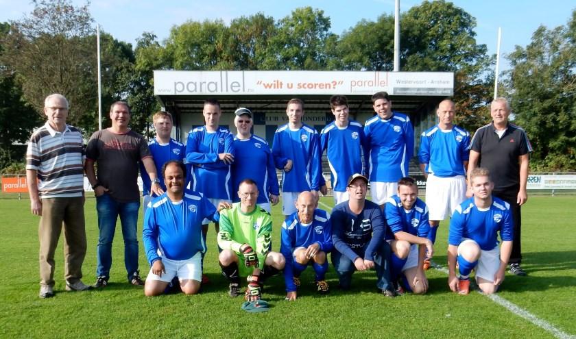 Het G-team van voetbalvereniging Sportclub Westervoort.
