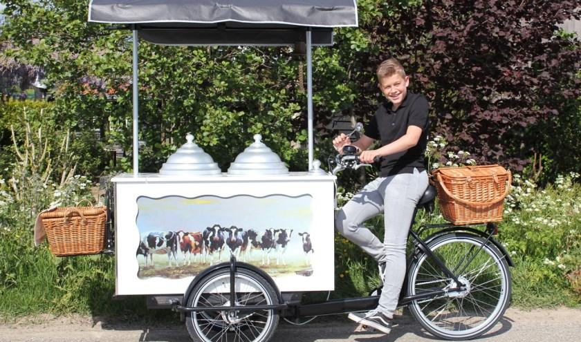 Daniël: 'Ik gebruik alleen Italiaans ijs. Voor de Avondvierdaagse heb ik een actie met extra voordelig ijs'. (foto: pr)