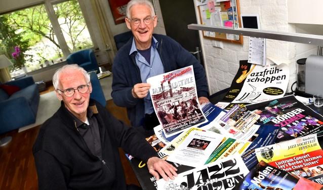 Rob Koch (links) en Peter van Bremen van Jay Jay's Border Jazzmen. (foto: Roel Kleinpenning)