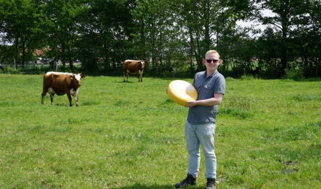 Mark van Zijl's favoriete product is de graskaas van De Hondspol. Foto: Ellis Plokker