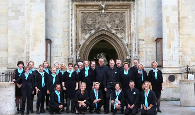Vocaal Ensemble Phoenix tijdens concertreis in Cambridge, september 2018. FOTO: Ineke Laeven-Broeksteeg.