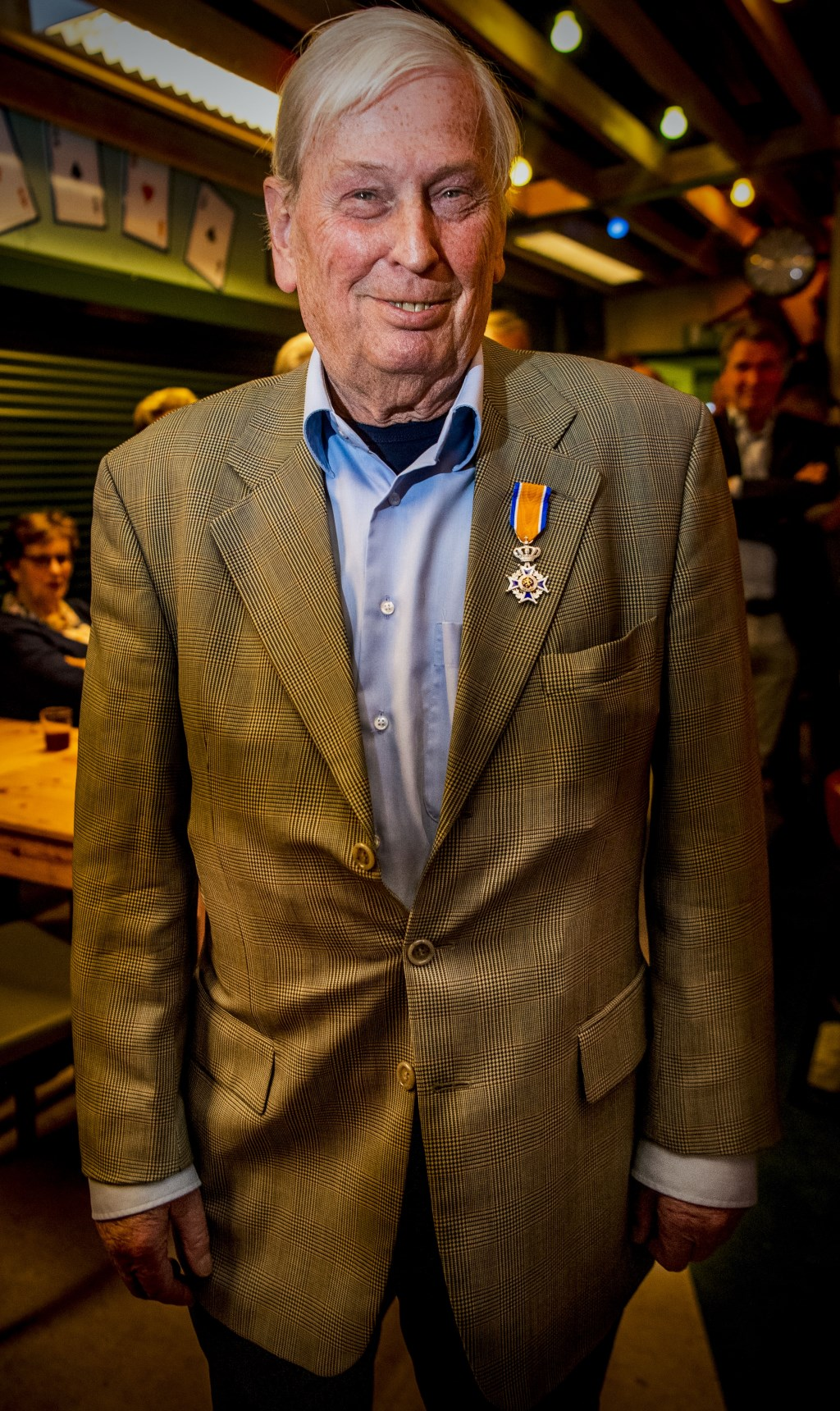 Vanwege zijn verdiensten is Feleus benoemd als lid in de Orde van Oranje Nassau. Foto: Frank de Roo © Persgroep