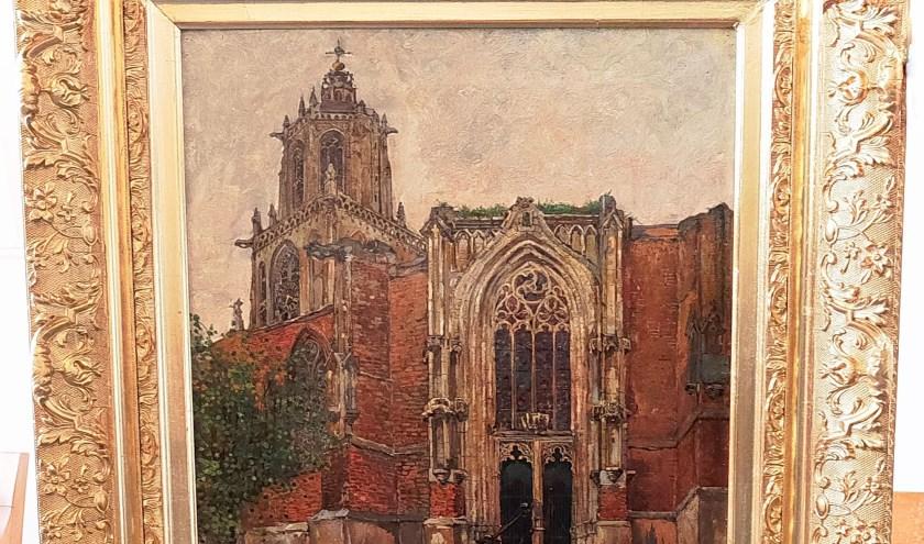 Detail uit het nieuw verworven schilderij met details die het schilderstuk bijzonder én interessant maken. (Foto: Max Timons)