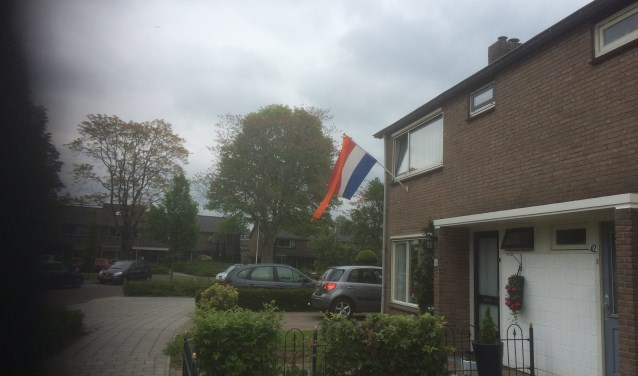 Vlag en wimpel op Lintelostraat.