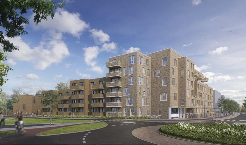 De nieuwbouw bestaat uit een complex van 45 appartementen en 15 eengezinswoningen aan een groen hofje.