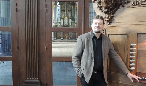 Sietze de Vries in de Groningse Martinikerk. (foto: pr)