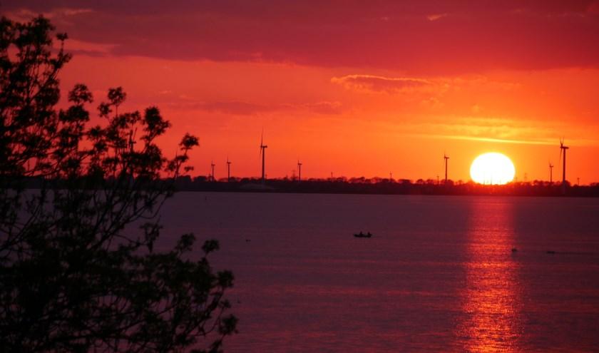 Prachtige zonsondergang op het wolderwijd!