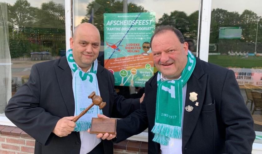 Veilingmeesters Mark van Nunen en Toon Gloudemans