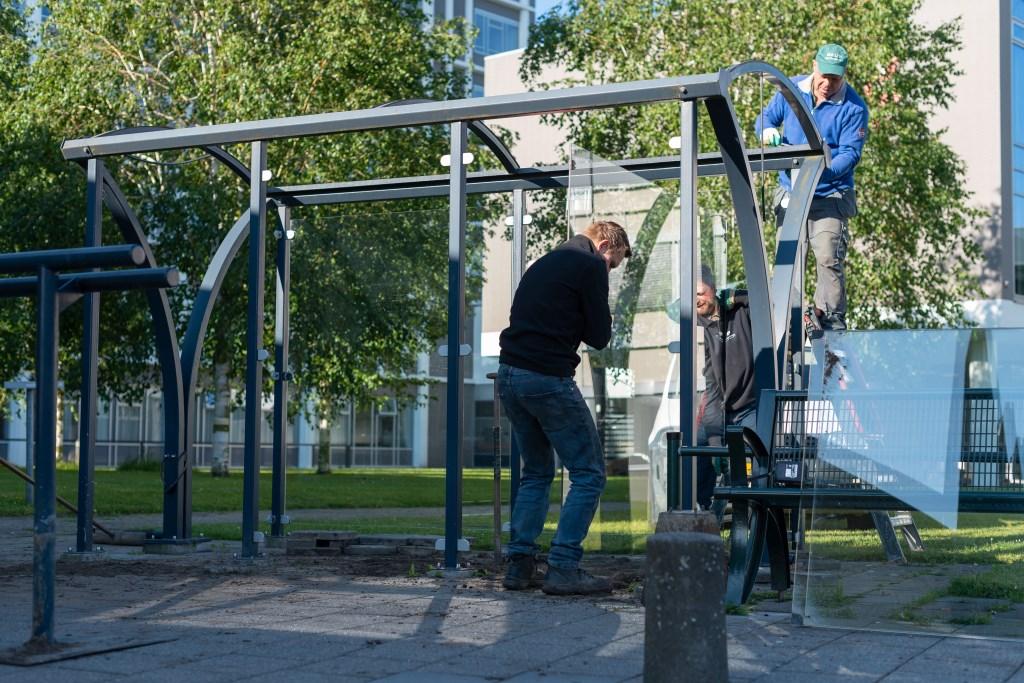 De abri's worden ontmanteld en krijgen een gezonde en sportieve nieuwe bestemming.  © Persgroep