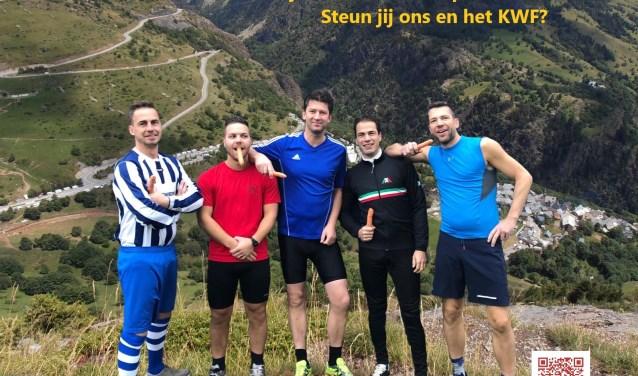 Harm Miggiels, Jeroen Martens, Paul van Asten, Maurice Kuijpers en Jos van Asten (v.l.n.r.) zijn klaar voor de uitdaging.