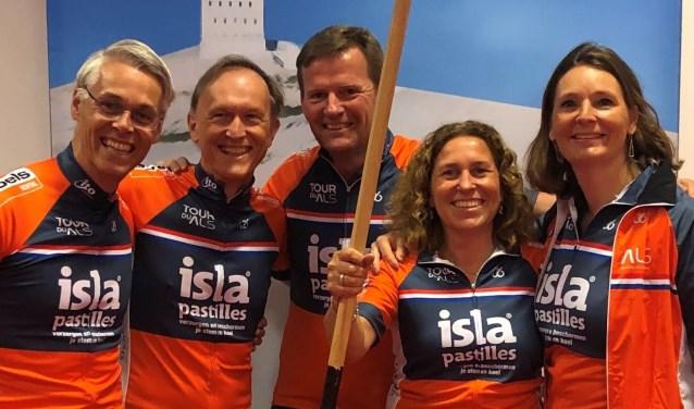 De Breukelse Bende doet vandaag, woensdag 29 mei, mee aan Tour du ALS. Eigen foto