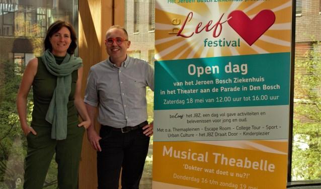 Saskia Byvanck en Marco van Geffen zijn namens het JBZ nauw betrokken bij het beLeef festival en de open dag. Rode draad is het gezondheidswelzijn en de Positieve Gezondheid waarin de mens centraal staat.