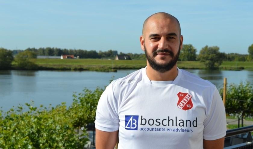 Majid Ajiach, verdediger in de hoofdmacht van Candia'66 komt zaterdag 18 mei voor de Rhenense 3e klasser in actie tegen FC Oudewater. (Foto: Henk Jansen)