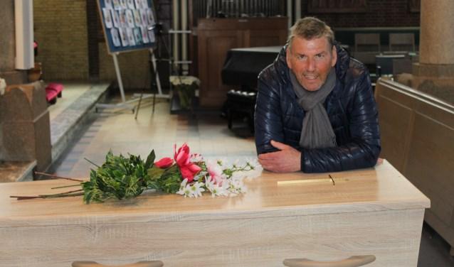 Arie van Driel tijdens de opnames van de boektrailer Club Vlinder.