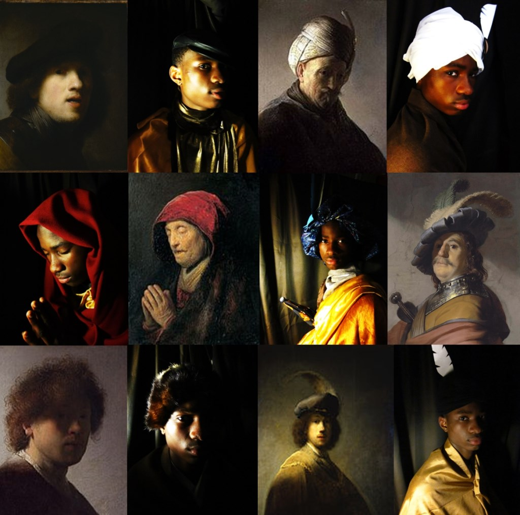 fotocollage 'David wordt Rembrandt' Foto: David Ukimoh © Persgroep