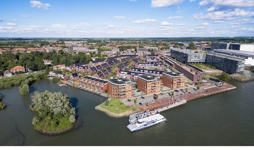 Een impressie van het woningbouwproject Kade Noord in Alblasserdam. (Foto: pr)