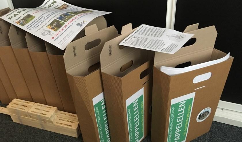 Alle scholen in Hardinxveld-Giessendam een pappelelbox van het museum gekregen. (Foto: Privé)