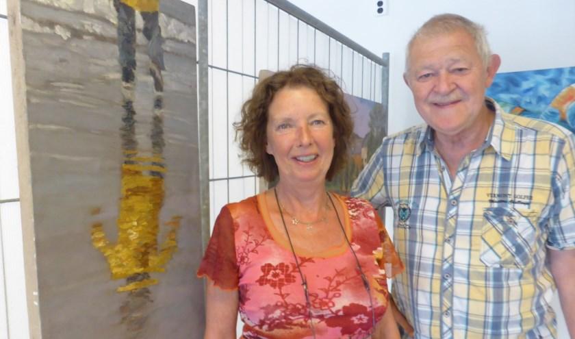 Yvonne en Ad Leijser hebben zich pas aangesloten bij kunstcollectief Ruw'Art. Yvonne exposeert deze maand, Ad is in juli aan de beurt.