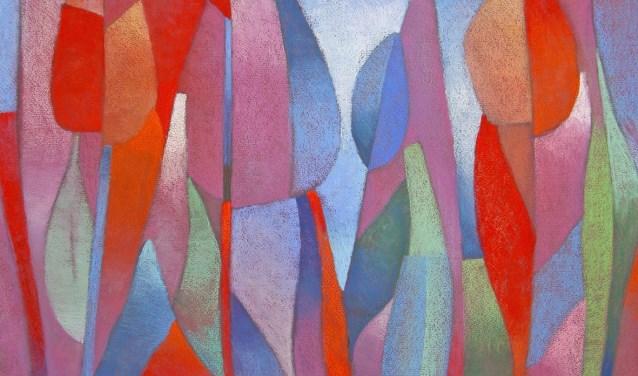 Kees van de Wetering / Tulipa / pasteltekening
