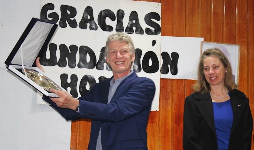 Huldiging van oud Aaltenaren Walter Meekes en Tineke Griffioen voor hun ondersteuning aan het Regionaal Ziekenhuis te Cusco - Peru