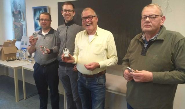 Van links naar rechts: Gerben Smit, Rick Beltman, Marinus Waanders en Wim van de Maat. Eigen foto.