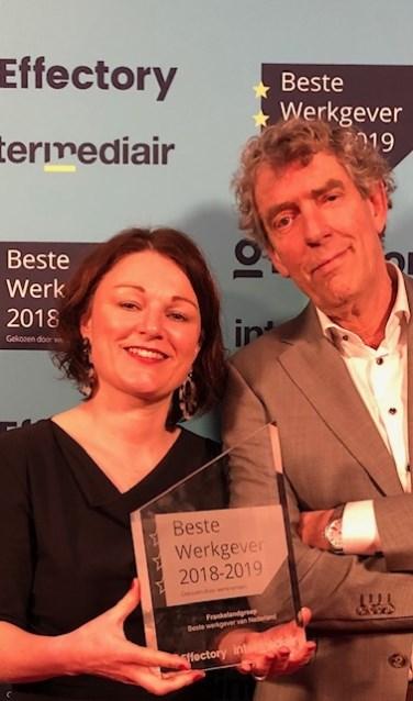 Pepita Breugem en Ben de Koning bedankten alle medewerkers. 'We zijn heel blij met jullie!'