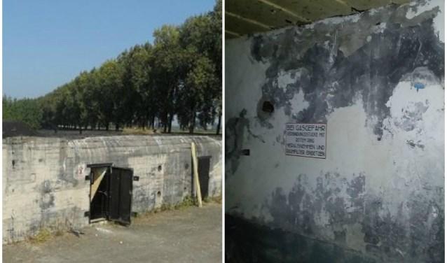 De bunker aan de Beerpolderweg op foto's die Stichting Bunkerbehoud Dordrecht op Facebook heeft geplaatst.