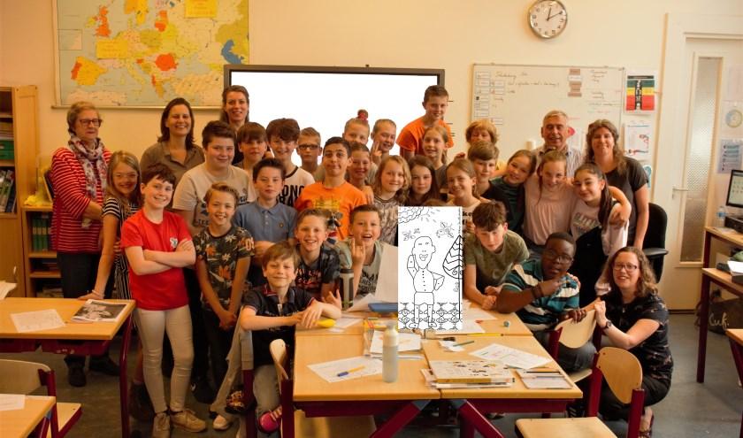 Leerlingen van groep 7 van basisschool De Springplank hebben de Vughtse erfgoedspeurtocht van het Pietertjespad gemaakt.