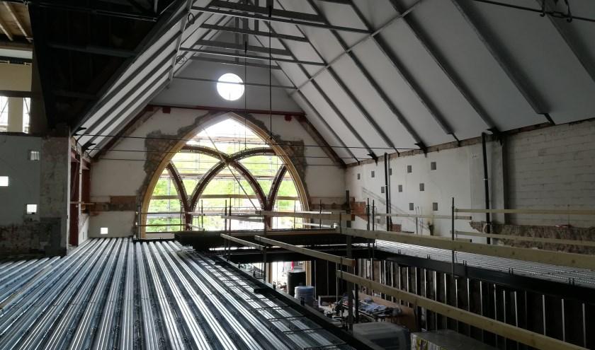 DownTown nadert de voltooiing. Tijdens Open Monumentenweekend in september is de voormalige kerk voor iedereen te bezoeken. (Foto: PR)