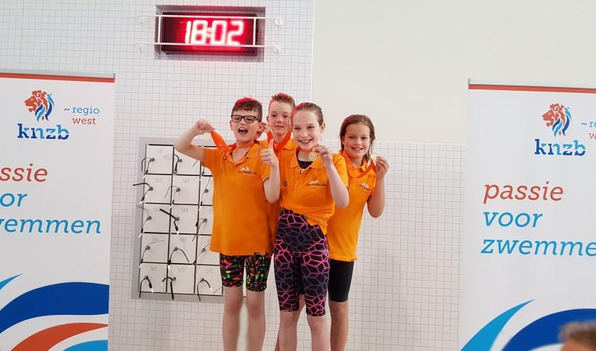 De winnaars: Owen, Ivo, Jasmijn en Robine. (Foto: Privé)